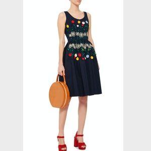 VIVETTA Cotton Embroidered Tea Dress sz 8